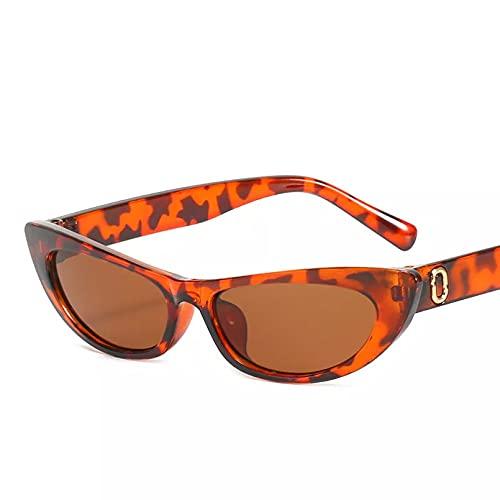 BAJIE Gafas de Sol, Gafas de Sol de Ojo de Gato Sexis, Gafas de Sol Triangulares pequeñas, Gafas de Estilo Callejero de Tendencia de Color para Mujer, Gafas Uv400