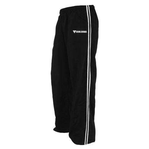 Krav Maga Nylon Pants (Black/White, X-Large)