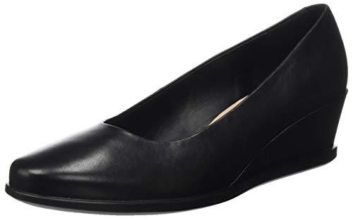 ECCO Damen Shape 45 Wedge Black Dress Loafer, Schwarz (Schwarz), 37 EU