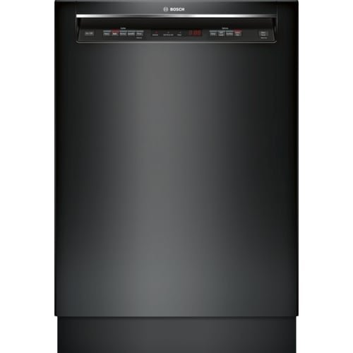 SHEM63W56N 24 Energy Star Rated 300 Series Recessed Handle Dishwasher with 16 Place Settings 3 Racks Tall Tub 5 Wash Cycles and 4 Wash Options in Black