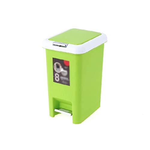 PCAL Bote de Basura Hogar Cubos de Basura Grandes con Cubierta Tipo Pedal para Espesar Inodoro Sala de Estar Cocina Oficina Cubos de Basura (Color : B, Tamaño : 20L)