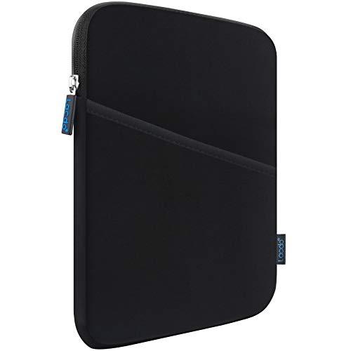 Lacdo Bolsa Blanda de Tableta Estuche para 7.9 Pulgadas iPad Mini 5 4 3 2, 8 Pulgadas Samsung Galaxy Tab A, Huawei MediaPad M5, Lenovo Tab M8 Bolsa de Tableta Impermeable y a Prueba de Golpes, Negro