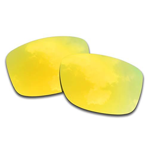 SOODASE Para Oakley Jupiter Squared Gafas de sol Dorado Lentes de repuesto polarizadas