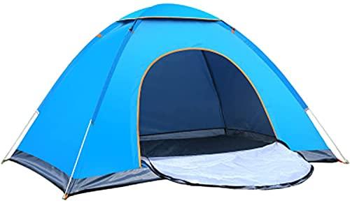 RenXin 4 Persona Cúpula Campaña De Campaña, Azulejos Azules A Prueba De Agua Familia De Vacaciones 4 Hombre Tienda, Fácil De Configurar para Al Aire Libre Senderismo Pesca Viaje De Vacaciones