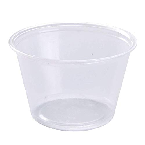 Disposable Souffle Portion Plastic Cups - Made in Canada - 4 Oz Clear Food Storage Condiments Container Perfect for Sauces Dips Salsa or Other Food Samples (Pack of 200)