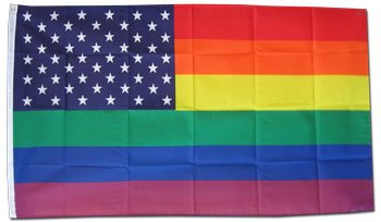 Dura-Poly by Flagline.com Rainbow/USA - 3' x 5' Polyester Flag