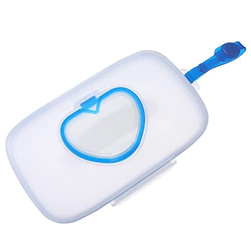 HEALLILY 2 Pzas Dispensador de Toallitas para Bebés Portatil Rellenable Toallitas para Bebés Contenedor Reutilizable Bolsa de Toallitas Húmedas de Viaje Azul Cielo