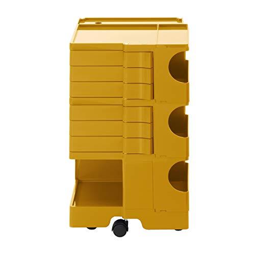 Boby M 36 Rollcontainer, honiggelb Pantone 7550 6 Schubkästen BxHxT 43x73,5x42cm