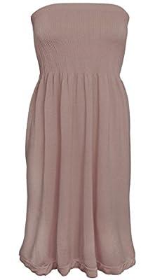 KMystic Women's Summer Tube Top Mini Dress
