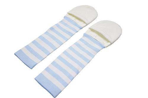 Edenswear ZincInfused Baby Flip Mitten Sleeves for Eczema Blue