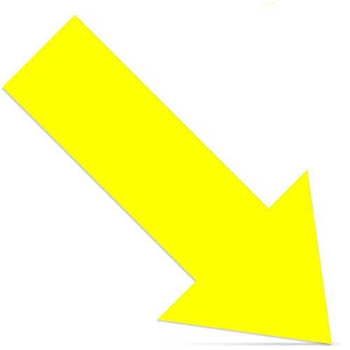 Cinsey - Lote de 20 pegatinas para suelo con flecha, 30 x 15 cm, para la distancia social, de vinilo resistente a los rayos UV, resistentes a la intemperie, autoadhesivas, color amarillo