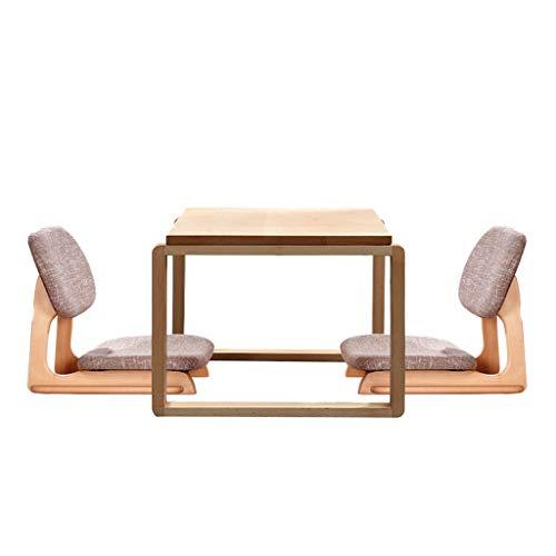 Tables basses Table De Fenêtre en Bois Massif Baie De Tatami Carrée De Cérémonie du Thé Japonaise Petite Table Table Et Chaise Modernes De Yangdi avec Chaise (Size : 60x40x40cm)