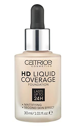Catrice | HD Liquid Coverage Foundation | High & Natural Coverage | Vegan & Cruelty Free (010 | Light Beige)