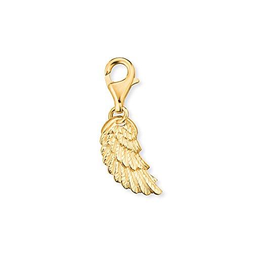 Engelsrufer Flügel Charm für Damen vergoldetes 925er-Sterlingsilber Größe 18 mm