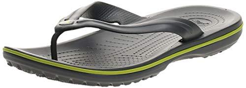 Crocs Crocband Flip, Unisex Adulto, Graphite/Volt Green, 41/42 EU