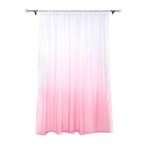 cortinas visillos rosa
