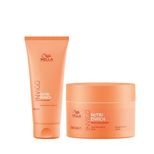 Wella Professionals INVIGO Nutri Enrich Deep Nourishing Conditioner 200ml and Mask 150ml duo for Dry And Damaged Hair