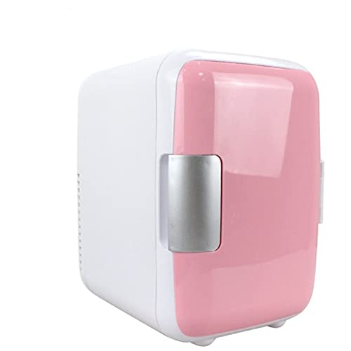 LLDKA Refrigerador eléctrico y Calentador para Mini refrigeradores (4 litros / 6 latas) Sistema termoeléctrico para automóviles, refrigerador,Rosado