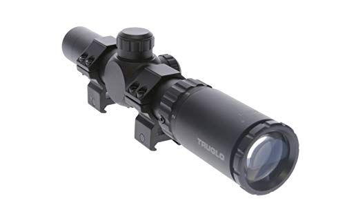 TRUGLO TruBrite 30 Hunter 30mm Compact Shotgun/Rifle Scope, 1-4 x 24mm