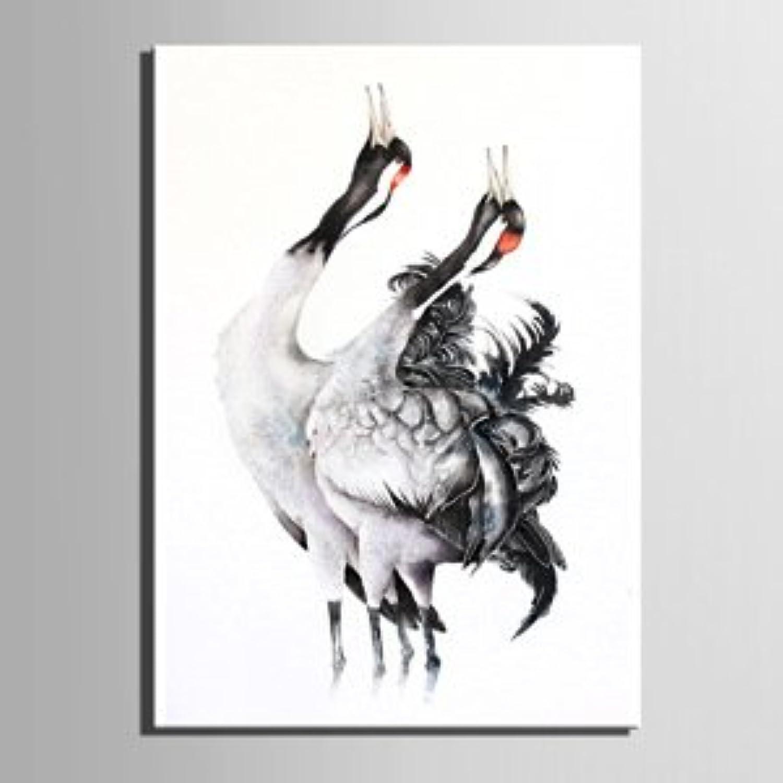 LTQ&QING new-Rot-gekrnter Kran dekorative Malerei, rahmenlose Malerei, einzelnes Wohnzimmer Restaurant Dekoration Malerei, 3550 B07CSJ74YW  | Für Ihre Wahl