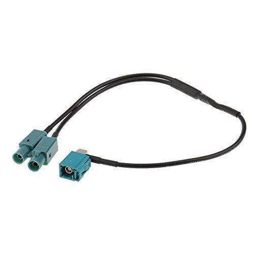 MagiDeal Adaptateur d'Antenne pour Radio de Voiture Connecteur Fil pour VW Audi