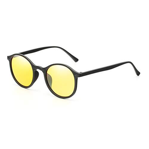 ERIOG Gafas de Sol Polarizadas Gafas de Sol Redondas polarizadas para Mujer Retro Vintage UV400 Hombres Visión Nocturna Gafas Steampunk Espejo Masculino Gafas de Sol Reflectantes