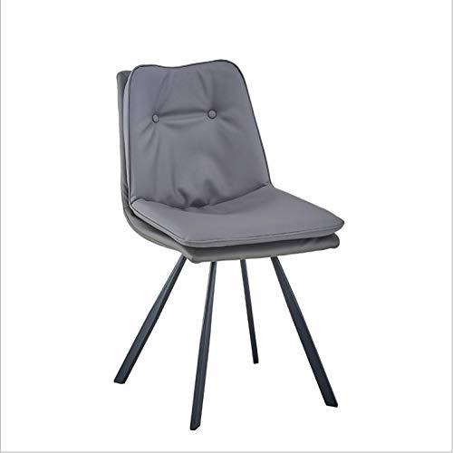 KLJLFJK - Sedia da cucina, per sala da pranzo, colore: arancione, sgabello con schienale, sedia imbottita a doppio strato, 4 fodere per sedia per sala da pranzo, colore: grigio