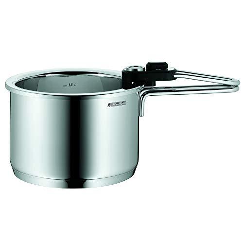 WMF Simmertopf mit Temperaturanzeige 1,5l, Milchtopf Induktion, Wasserbadkocher herausnehmbaren Einsatz, Cromargan Edelstahl