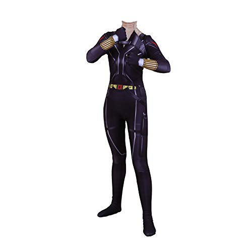 NVHAIM 3D Avengers Body Widow Body, Pelcula para Adultos Natasha Romanoff Body Stretch Body Halloween Cosplay Disfraz Disfraz Fancy Vestidos Onesies,New Black Widow-Women XL