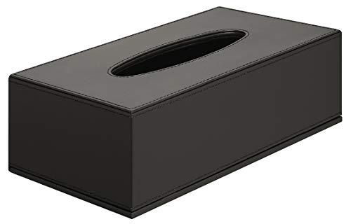 Gedotec Papierhandtuch-Spender schwarz Feuchttücher-Box Körperpflege Handtuchspender für WC & Bad - H5621 | Papiertuch-Spender mit Magnetverschluss | 1 Stück - Design Kosmetiktuch-Box für Tücher