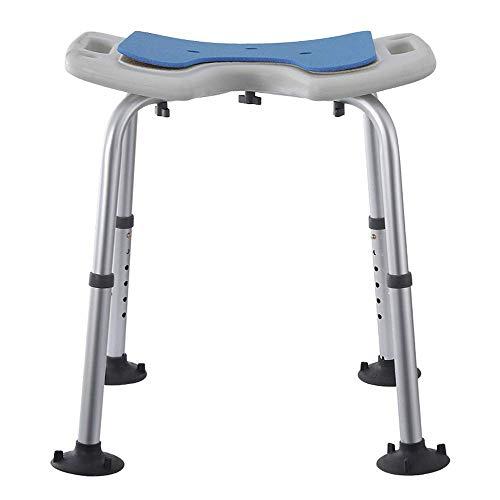 TELLMNZ Duschhocker, gepolsterter Haltegriff-Badsitzstuhl, Verstellbarer Hochleistungs-Badestuhl, leicht und langlebig für ältere Menschen, Senioren, Behinderte, Behinderte Runde