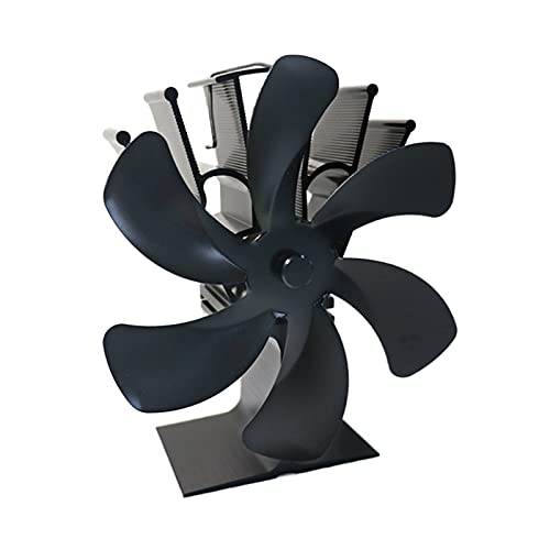 OWENRYIN 6 ventiladores de estufa que funcionan con calor para quemadores de leña, calefacción, chimenea, ahorro de combustible, ventilador de chimenea de gas
