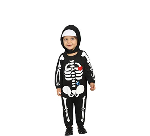 Atosa-61203 Atosa-61203-Disfraz Esqueleto-Beb + 24 Meses-nio-Negro, color (61203) , color/modelo surtido