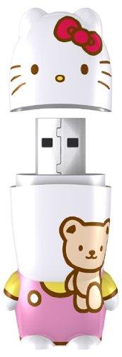 Mimoco 8GB Hello Kitty Teddy Bear Unidad Flash USB USB Tipo A 2.0 Rosa, Blanco - Memoria USB (8 GB, USB Tipo A, 2.0, Tapa, Rosa, Blanco)