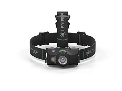 Ledlenser MH8 LED Akku Stirnlampe, extrem helle 600 Lumen, 40 Stunden Laufzeit, wiederaufladbar oder batteriebetrieben, auch als Handlampe verwendbar, schwarz, inkl. Akku
