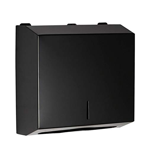 Cabilock C Falter - Dispensador de toallas de papel para pared, color negro