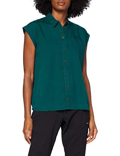 Jack Wolfskin Damen Mojave Shirt Bluse, Teal Green, XS