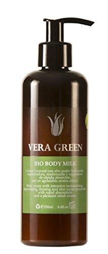 Vera Green Bio Body Milk Crema de Aloe Vera Corporal de Uso Diario 100% Biológica 250 ml