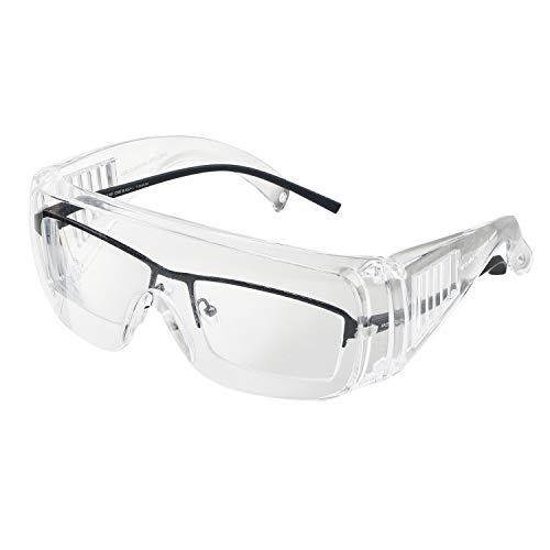 ENJOHOS Schutzbrille für Brillenträger, Winddicht UV-Schutz Vollsichtbrille,EN166 Überbrille,Schleifbrille für Fahrrdfahren, Labor, Baustelle, Outdoor