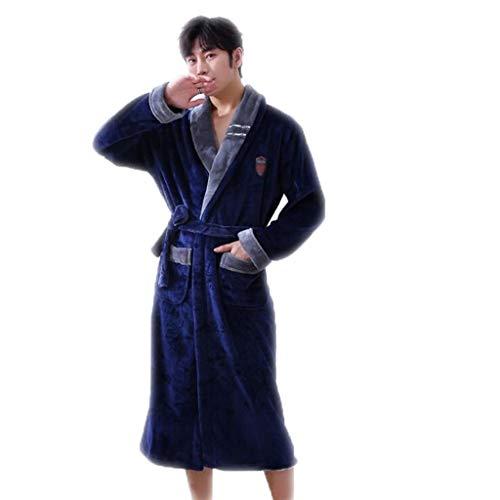 GHKWXUE mannen pyjama's badjas winter, verdikt warm flanel nachthemd, pyjamasets, gewand, kleding in huis, flanel verdikken/geen bol/vervaagt niet.