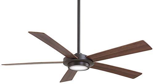 minka-aire f745-orb, Sabot Oil-rubbed Bronze 52'ventilador de techo con luz y mando a distancia