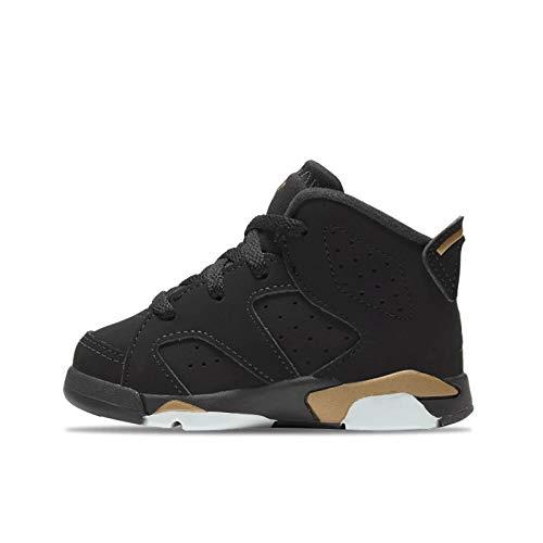 Nike Jordan 6 Retro, Scarpe da Basket Bimbo 0-24, Black/Metallic Gold/Black, 17 EU