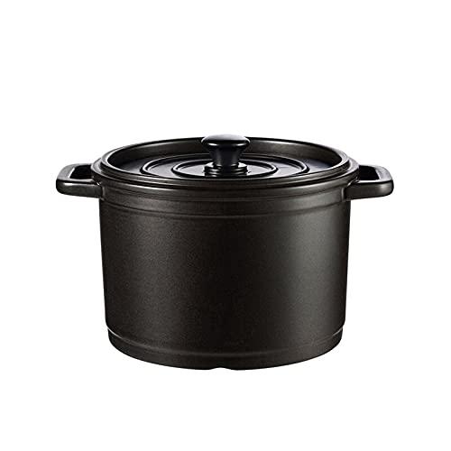 Olla De Sopa De Cerámica 1.8 Litros-5 Litros, 1-5 Personas Cazuela Negra Olla De Sopa Olla De Sopa Estofado Doméstico, Refrigerador, Sopa, Horno Microondas, Lavavajillas,D