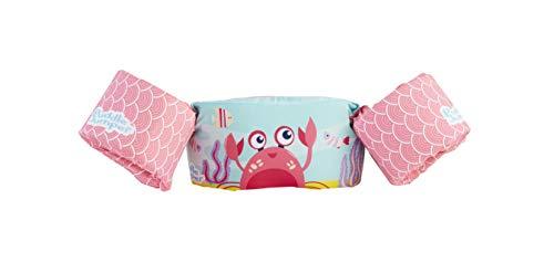 Stearns Original Puddle Jumper Kids Life Jacket | Deluxe Life Vest for Children, Pink Crab