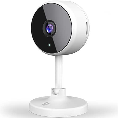 [2021Neu] Überwachungskamera Innen, Littlelf WLAN Kamera WiFi Kamera Heimkamera mit 2-Wege-Audio,1080P Überwachungskamera für Haustier/Baby/Ältere, Unterstützt Cloud-Speicher & SD-Karte, 1Stück