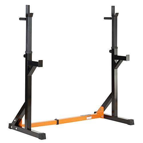 Mirafit - Rack per squat e allenamento in sicurezza con aste da dip - Altezza e larghezza del rack regolabili - Allenta facilmente i perni per regolare l'attrezzo e sposta la struttura nella posizione desiderata Ideale per squat, dip e sollevamenti -...