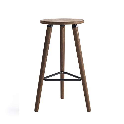 SMX gemonteerde ronde barkruk massief houten barstoel hoge kruk statafel stoel eenvoudige moderne bar café business hall barkruk