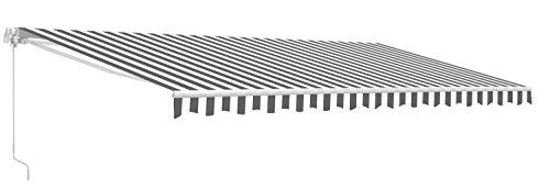 ALEKO AW13X10GREYWHT Retractable Patio Awning 13 x 10 Feet Gray and White...