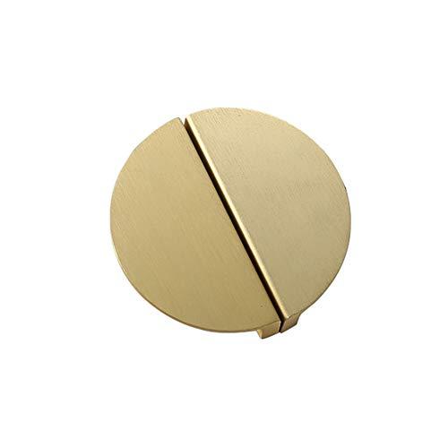 Fhupoy 2X Möbelgriff Retro Schublade Halbkreis Türzugknopf für Schubladen Schrank Apotheker Schrank Lochabstand 64 mm Gold