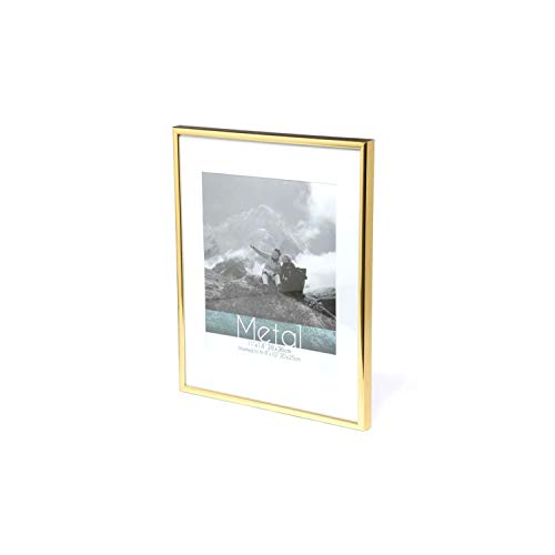 Picture Frame Metal Golden Photo Frame Classic Minimalist Desktop Decor 9X13 13X18 21X30Cm Inside Certificate Frame,Golden Photo Frame,13X18Cm